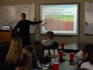 Thrive staff presents to high school youth
