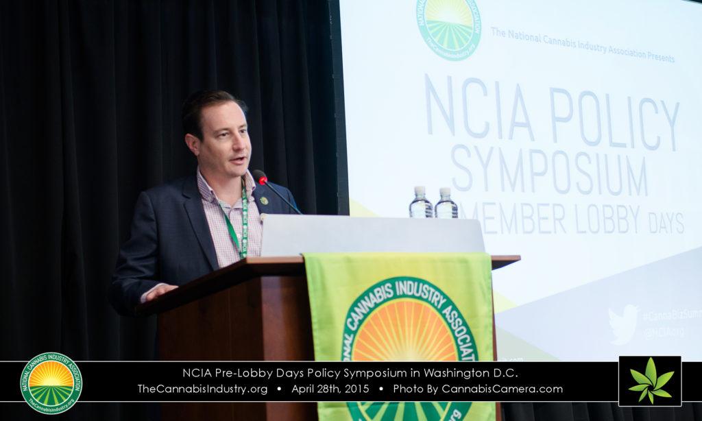 Ean Seeb speaks at NCIA's Policy Symposium in 2015