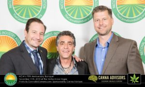Jay TIttman (center), with Denver Relief Consulting's Ean Seeb (L) and Nick Hice (R) at NCIA's 5th Anniversary Banquet