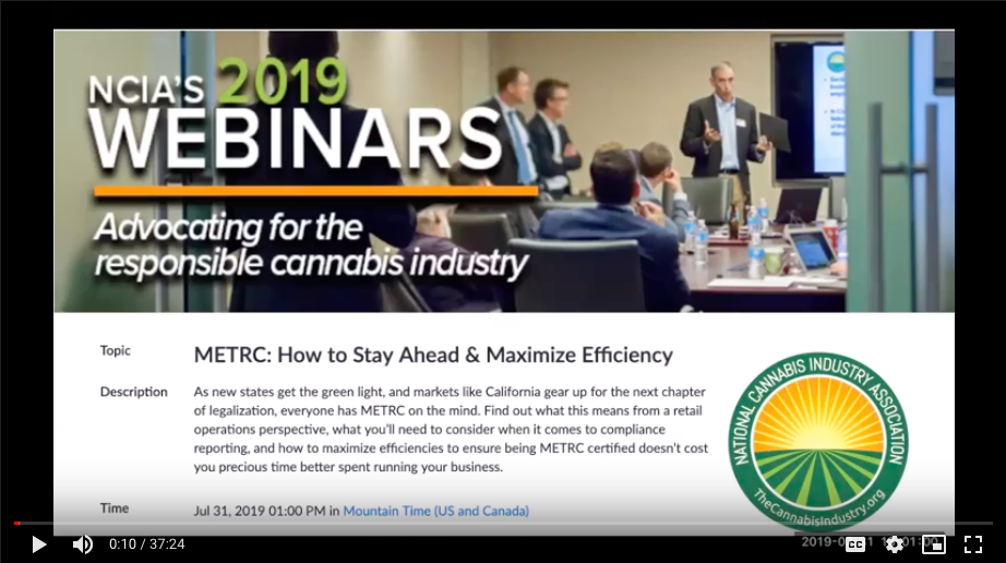 WEBINAR: METRC – How to Stay Ahead & Maximize Efficiency