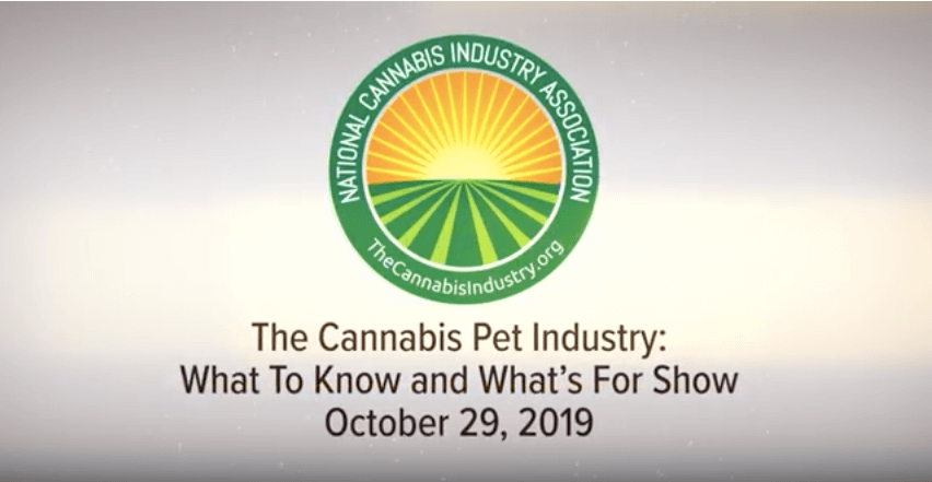 Webinar Recording: The Veterinary Cannabis Industry – What to Know And What's For Show