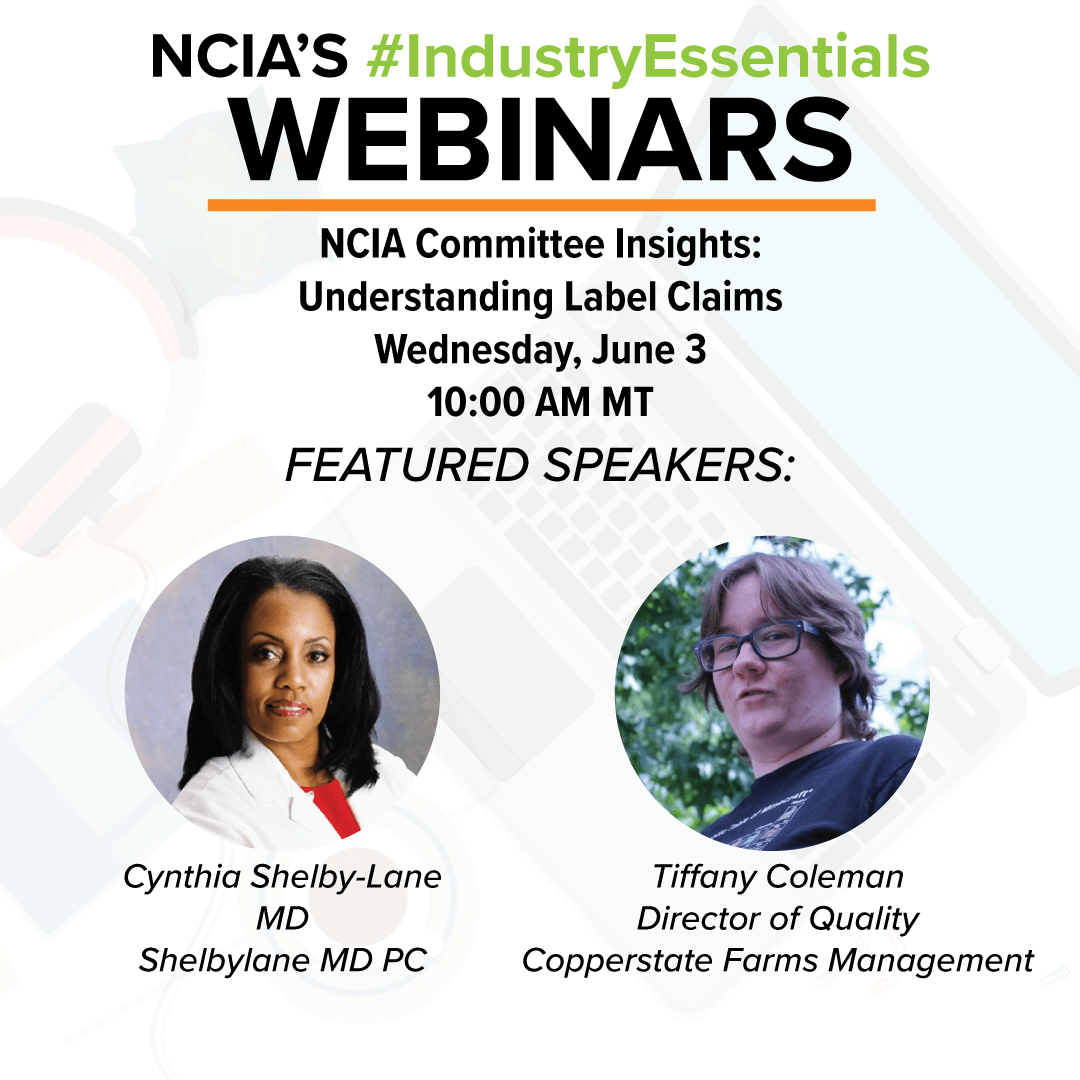 Webinar: NCIA Committee Insights – Understanding Label Claims