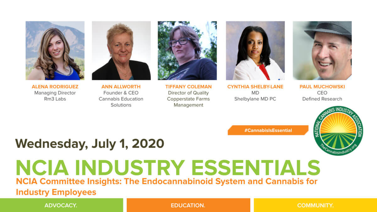 #IndustryEssentials Webinar Recording – NCIA Committee Insights: The Endocannabinoid System and Cannabis for Industry Employees