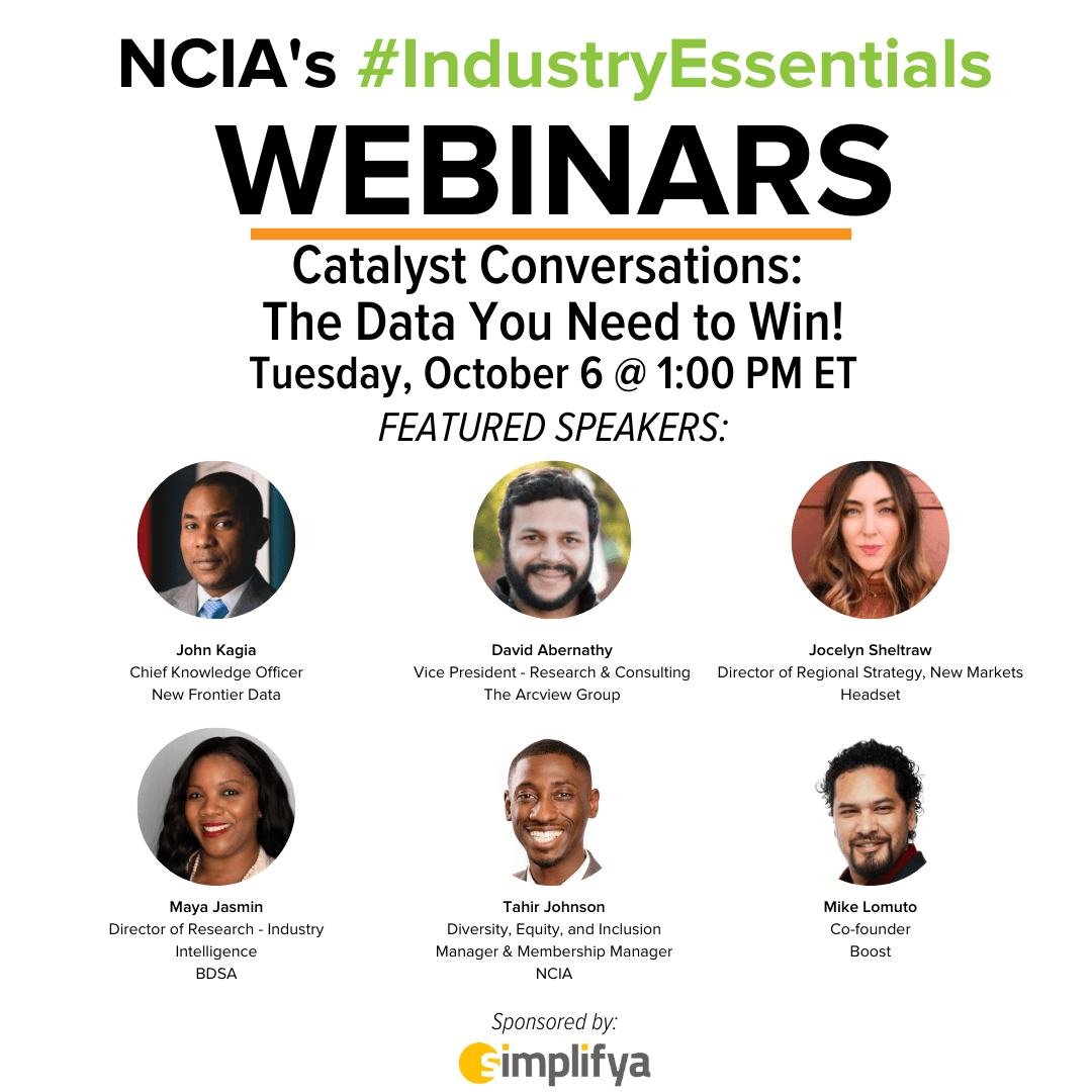 #IndustryEssentials Webinar Recording – Catalyst Conversations: The Data You Need to Win