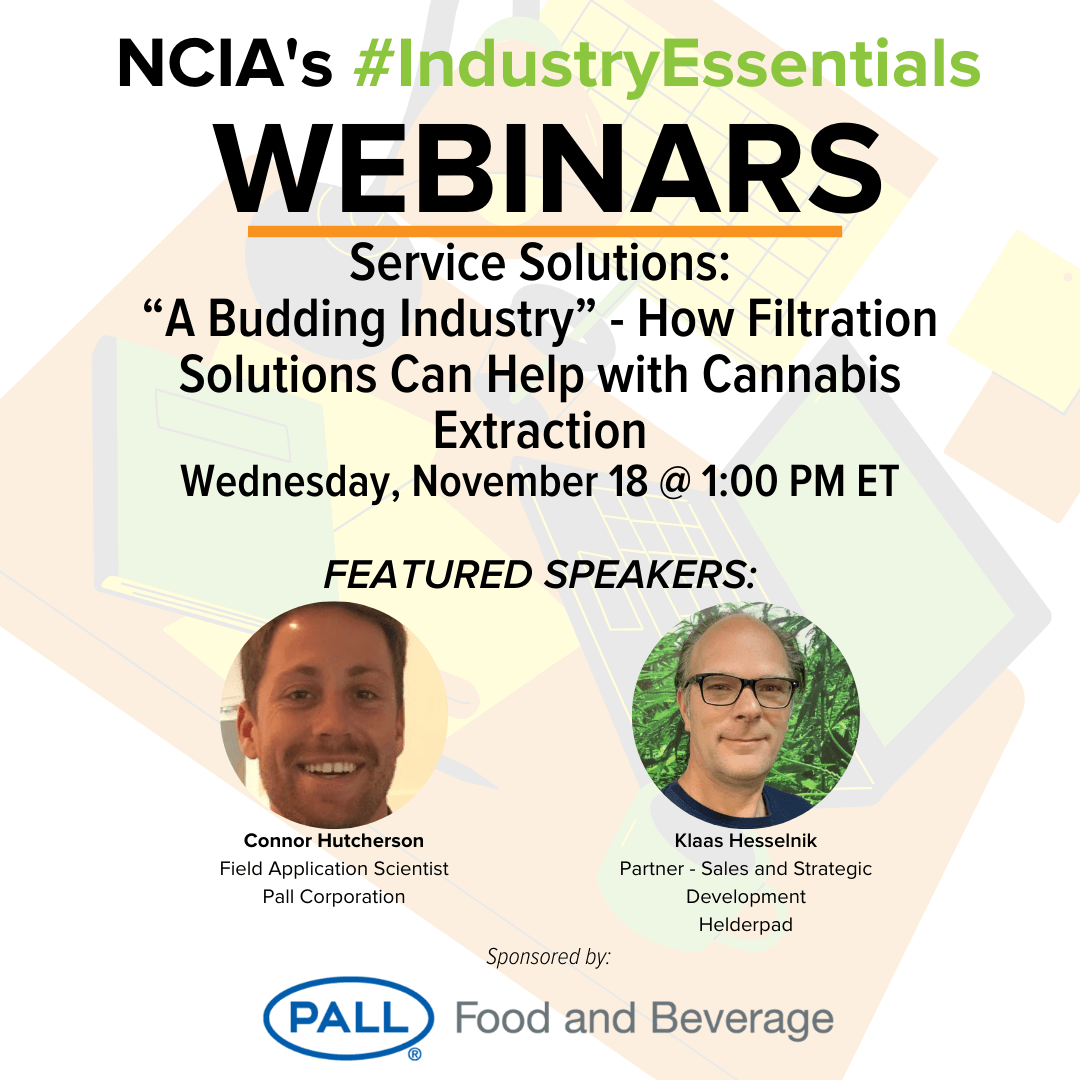 "#IndustryEssentials Webinar Recording – Service Solutions: ""A Budding Industry"" – How Filtration Solutions Can Help with Cannabis Extraction"
