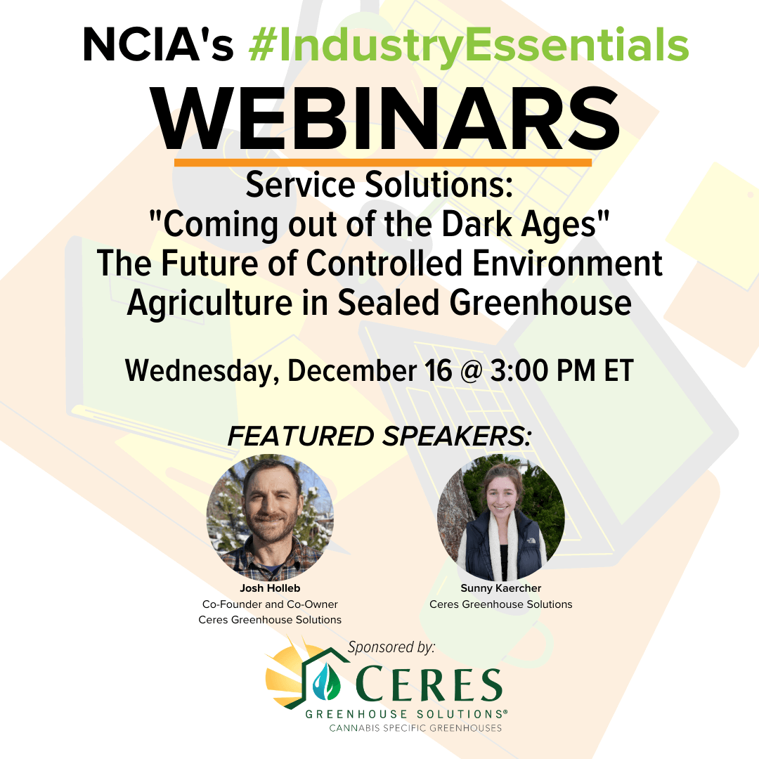 #IndustryEssentials Webinar Recording – Service Solutions: Coming out of the Dark Ages – The Future of Controlled Environment Agriculture in Sealed Greenhouse Cultivation