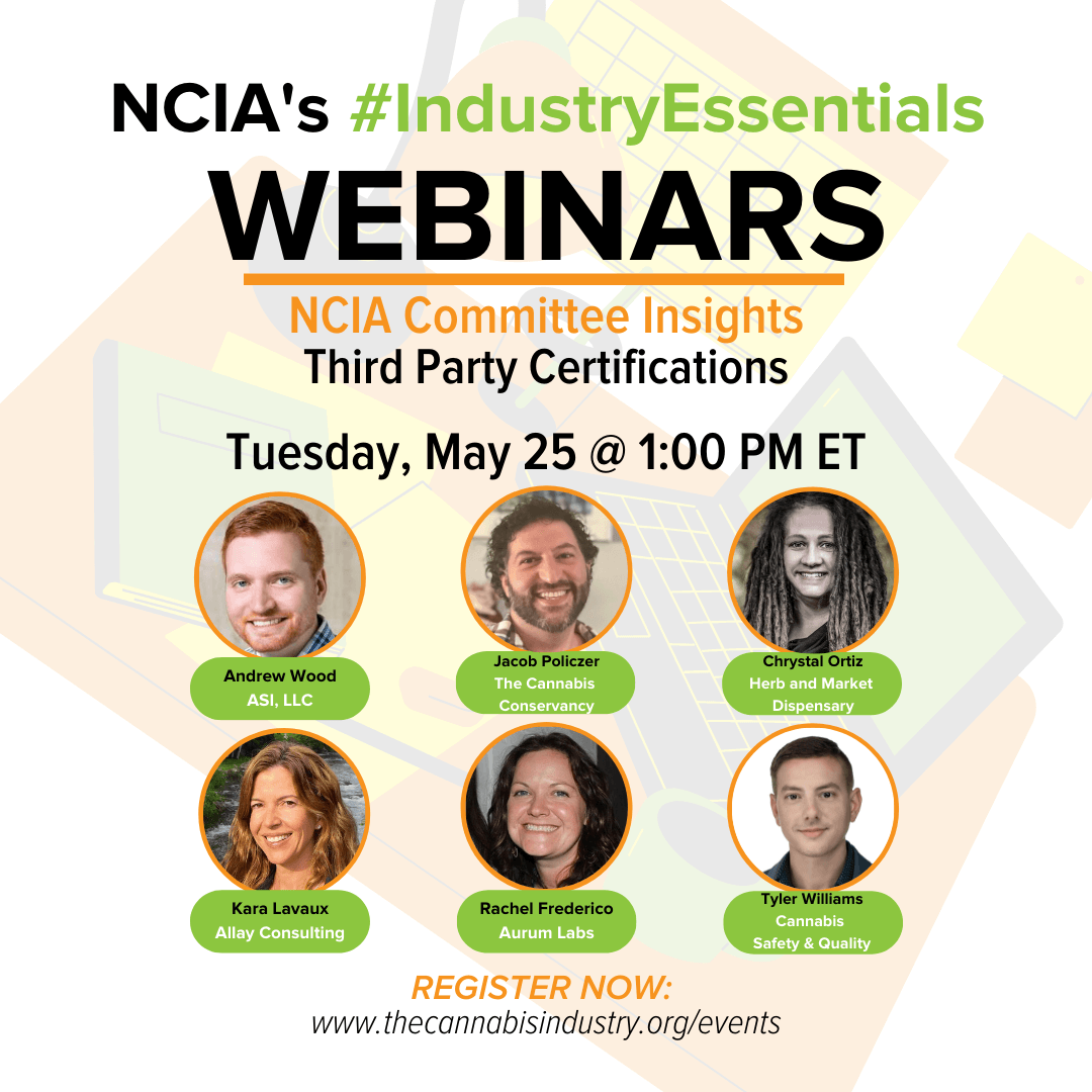 Committee Insights  | 5.25.21 | Third Party Certifications