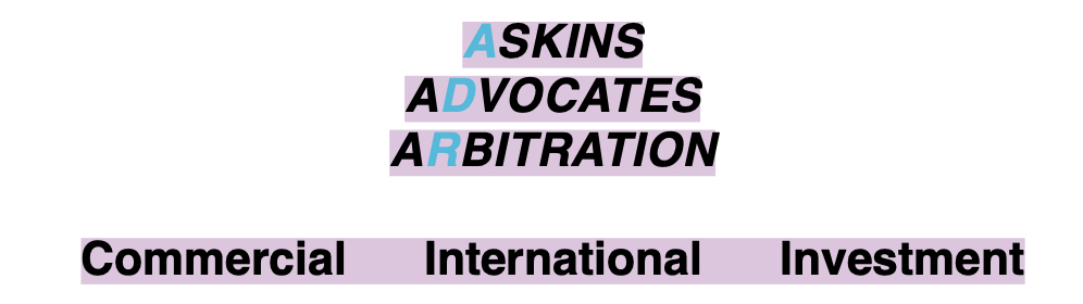 Askins Advocates Arbitration